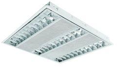 Luminario para empotrar luz direta fluorescente 3xt5 fluorescente de 14 w