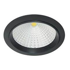 Luminario smd led para empotrar en techo 9 7w acabado negro mate incluye driver 100 240v
