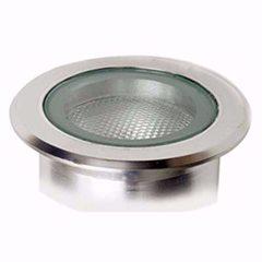 Lampara exterior para empotrar en piso 75w e 27 127v ip65 par 30 aluminio illux