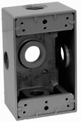 Caja rectangular 5 entradas de aluminio para uso intemperie de 1 2 eaton