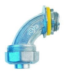 Conector curvo liquid tight en zinc de 1 2 eaton